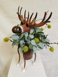 Metal Painted Randolph Whitetail Deer Planter
