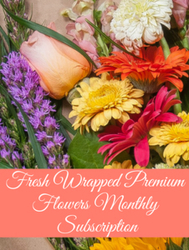 Fresh Wrapped Upscale Flower Bouquet Monthly Subscription