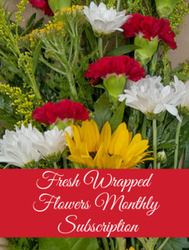 Fresh Wrapped Flower Bouquet Monthly Subscription