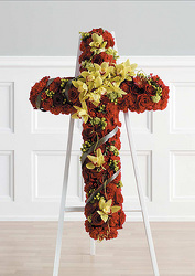 Complementary Red and Green Standing Cross