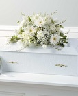 White Infant Casket Spray