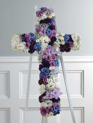 Purple, Lavender and White Cross