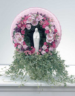Pink Wreath with Statue